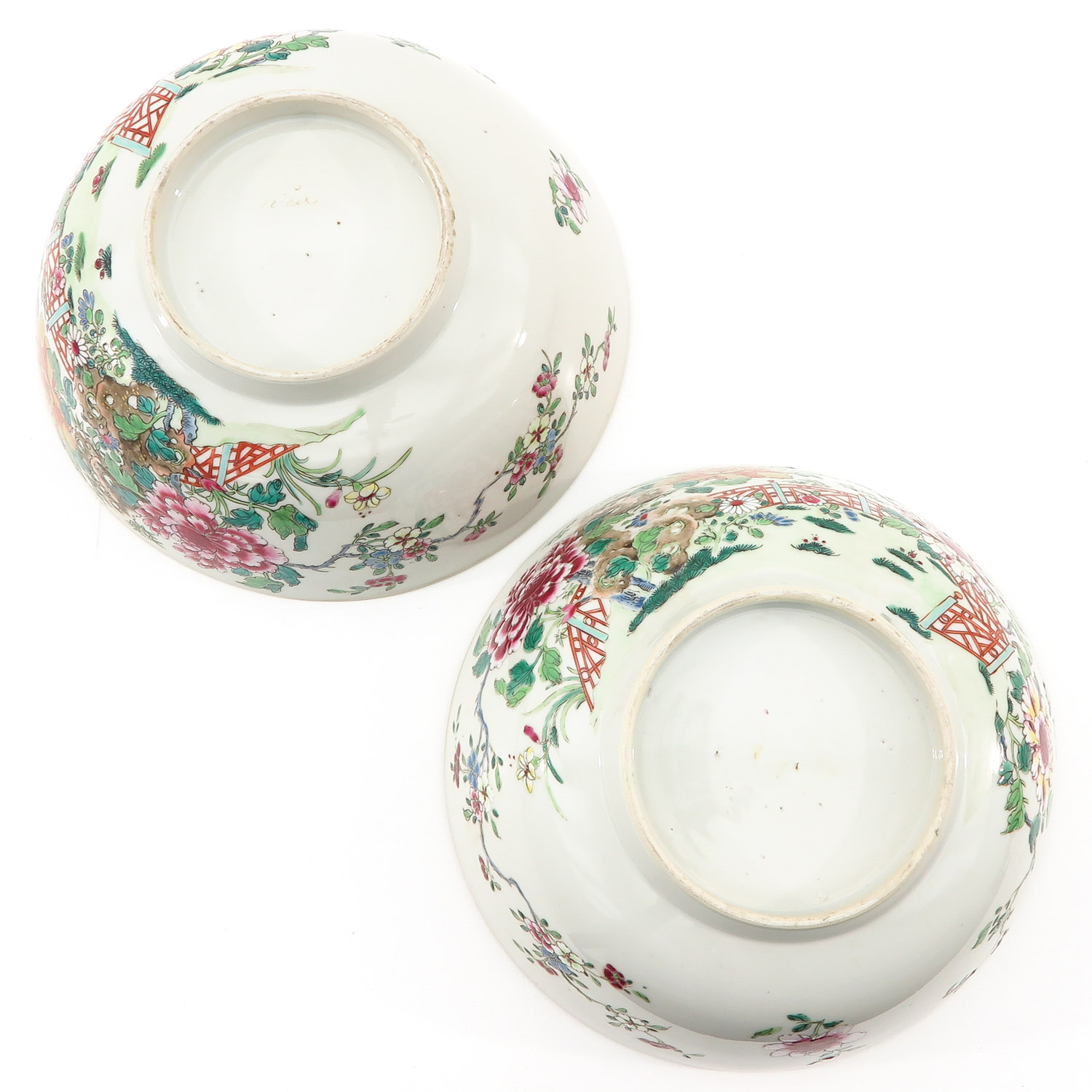 A Pair of Famille Rose Bowls - Image 6 of 9