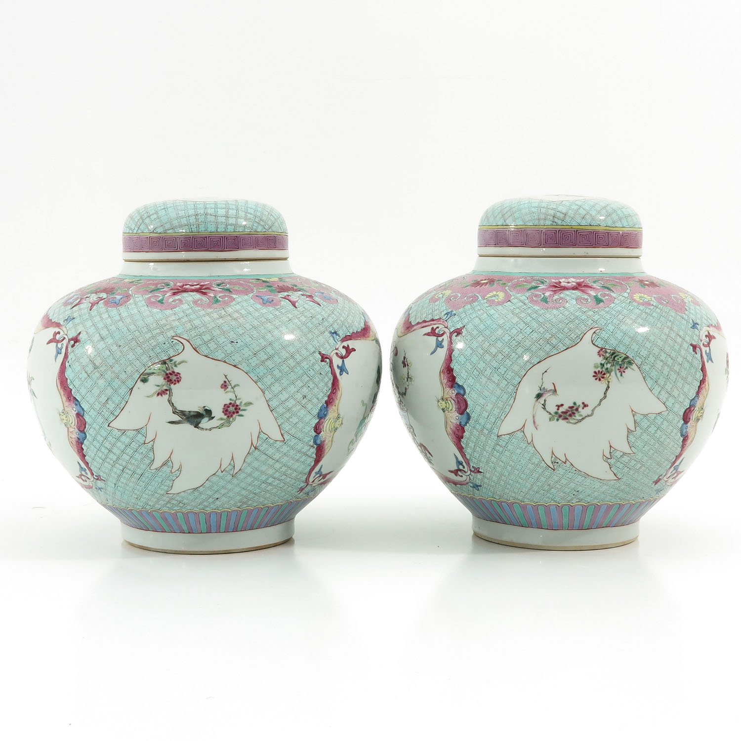 A Pair of Famille Rose Ginger Jars - Image 4 of 10