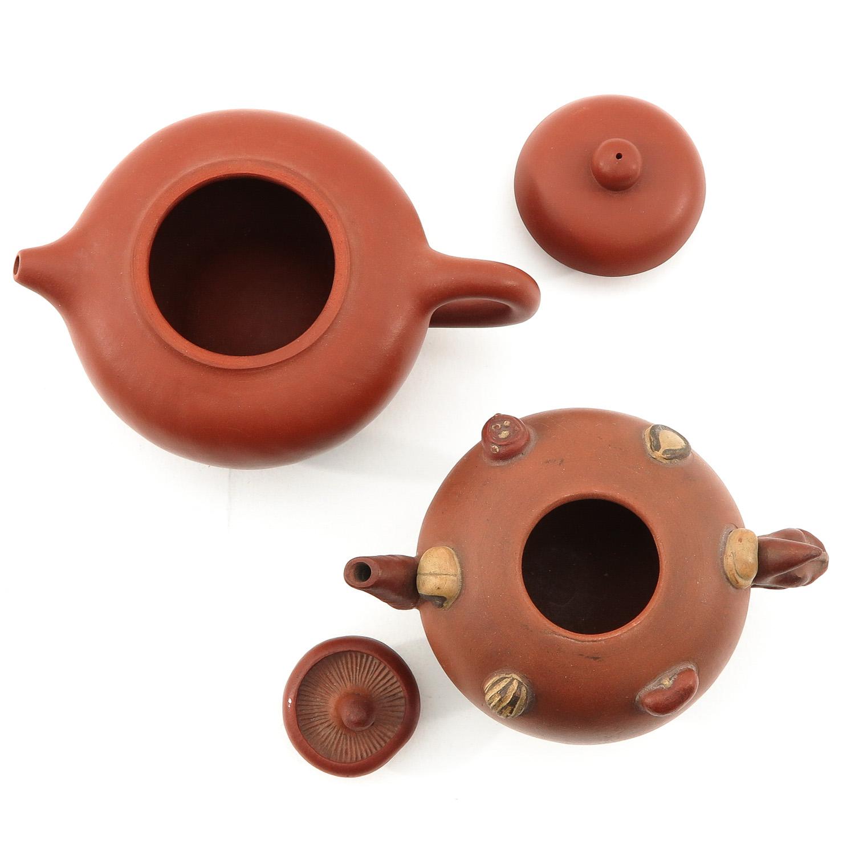 2 Yixing Teapots - Image 5 of 9