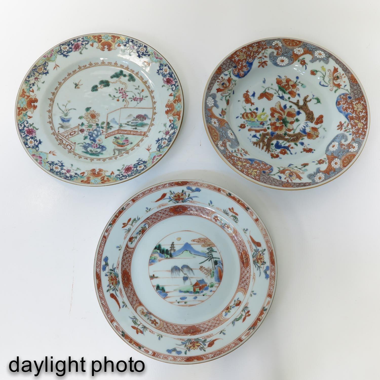 A Lot of 3 Polychrome Decor Plates - Image 9 of 10