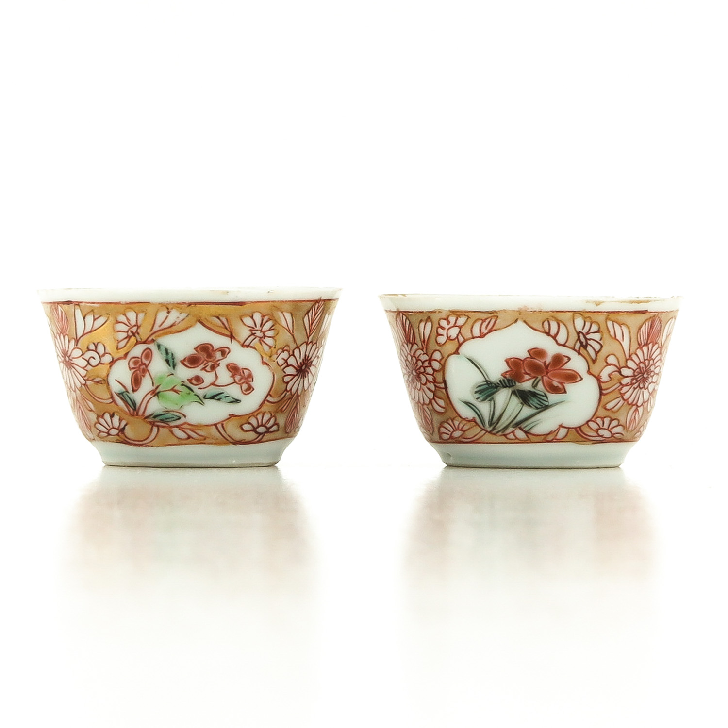 A Set of 2 Cups and Saucers - Image 4 of 10