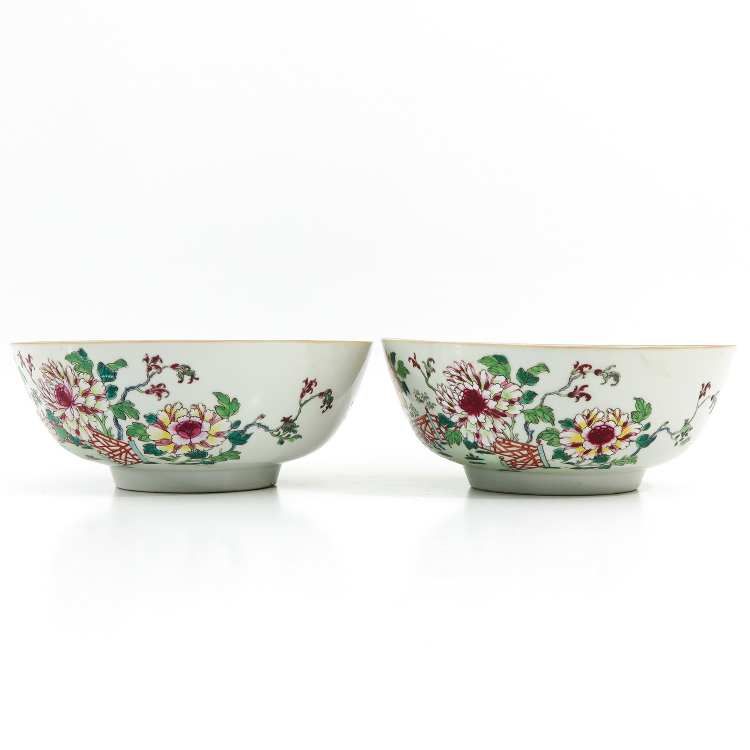 A Pair of Famille Rose Bowls - Image 2 of 9