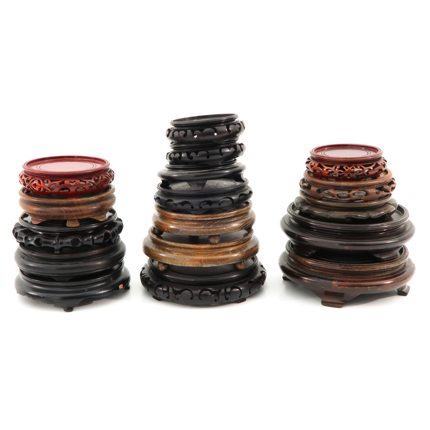 A Large Collection of Wood Bases