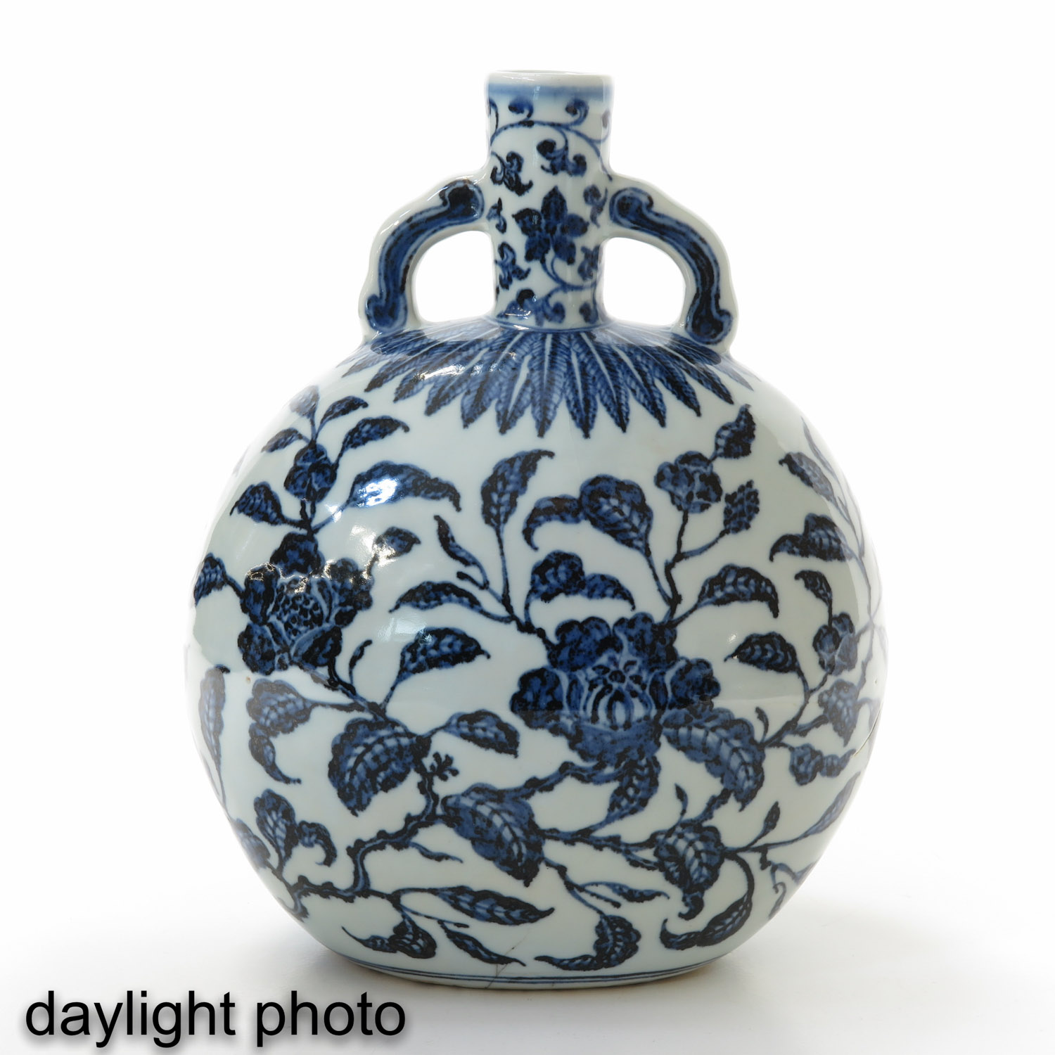 A Blue and White Moon Bottle - Image 7 of 9