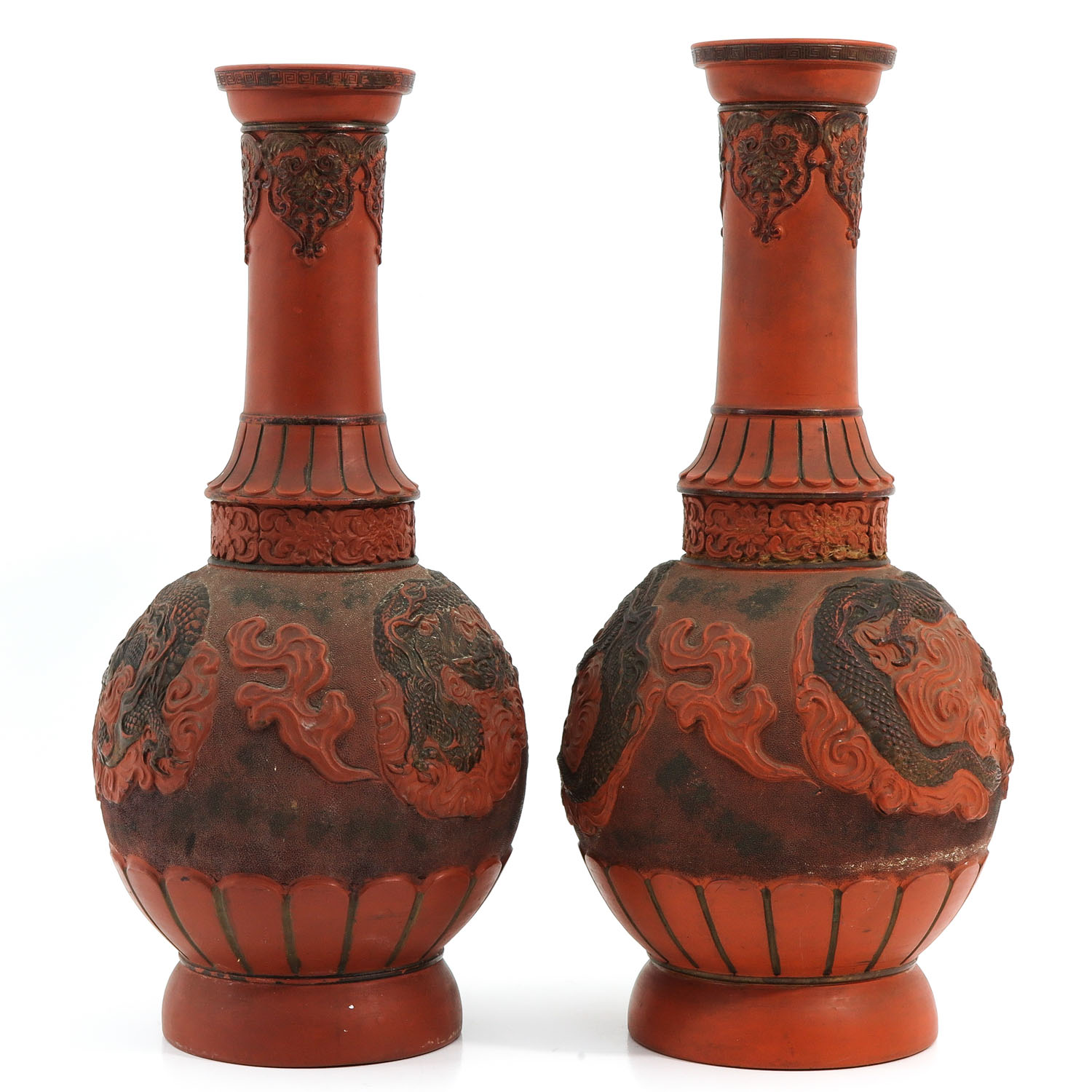 A Pair of Stoneware Vases - Image 4 of 10
