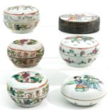 A Colllection of Porcelain Boxes and Covers