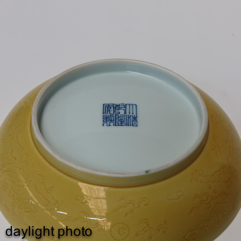 A Yellow Glaze Dish - Image 4 of 6