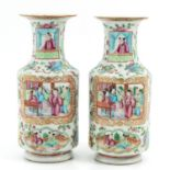 A Pair of Cantonese Vases
