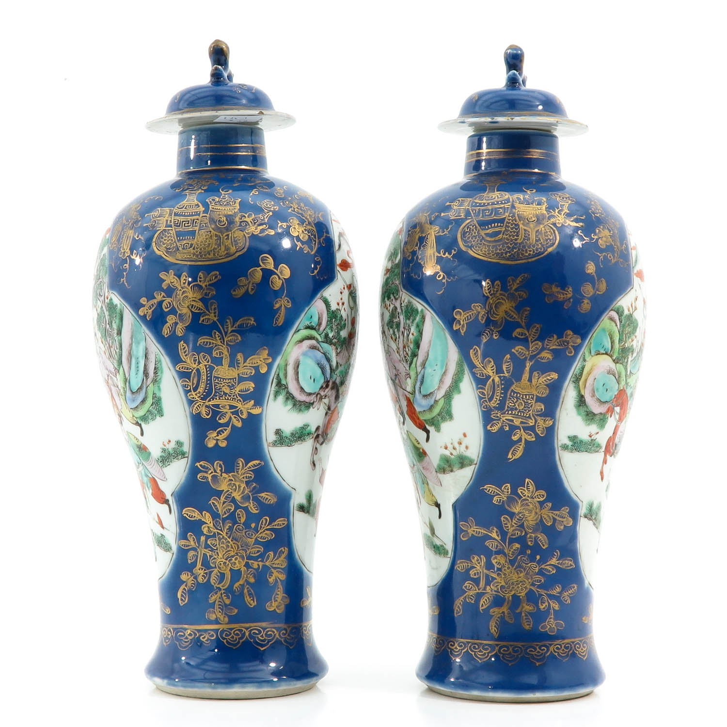 A Pair of Powder Blue Vases - Image 4 of 10