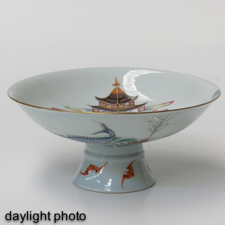 A Famille Rose Stem Bowl - Image 7 of 10