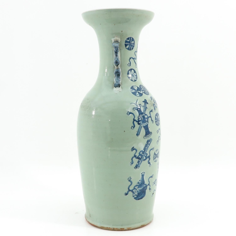 A Celadon and Blue Vase - Image 4 of 10