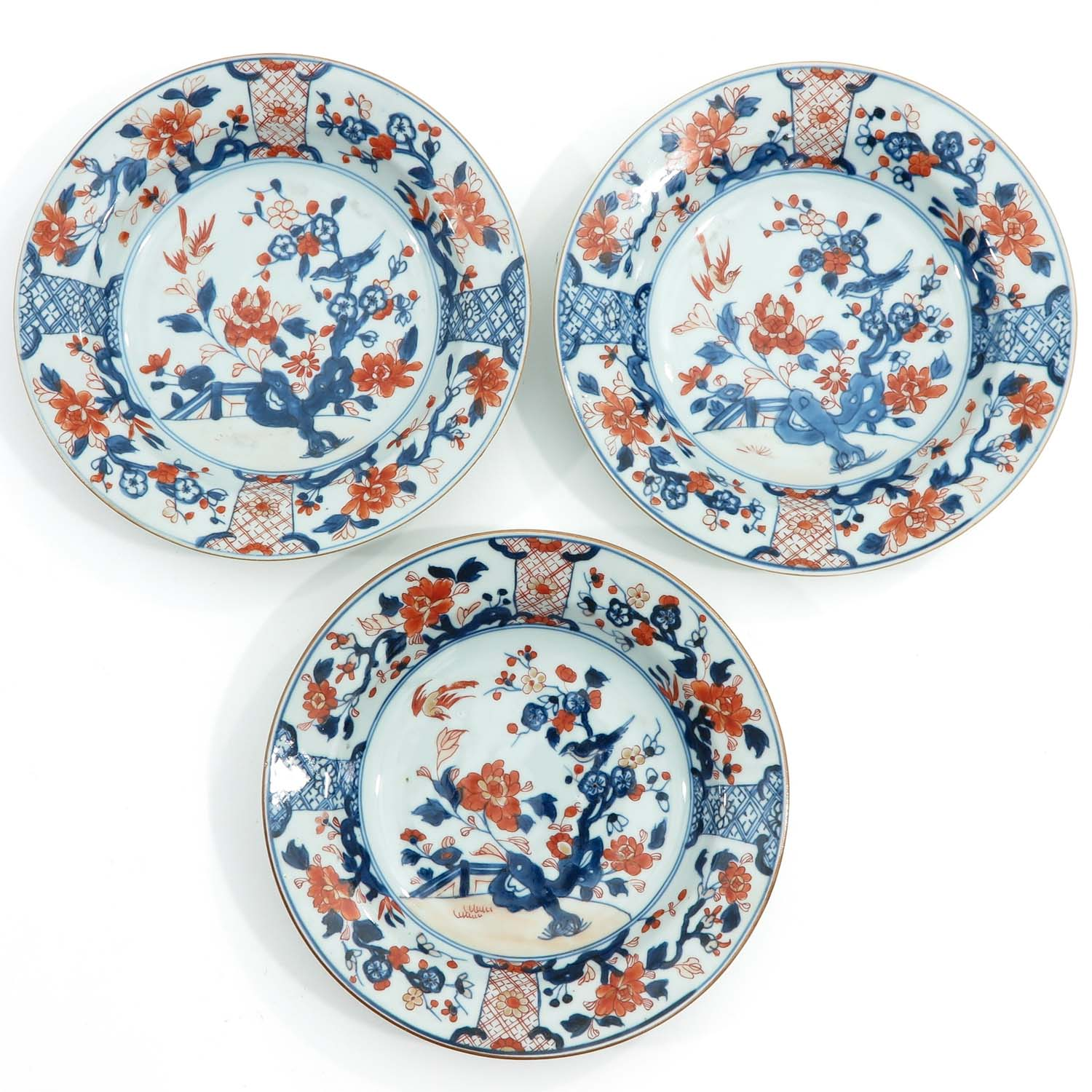 A Collection of 8 Imari Decor Plates - Image 7 of 10