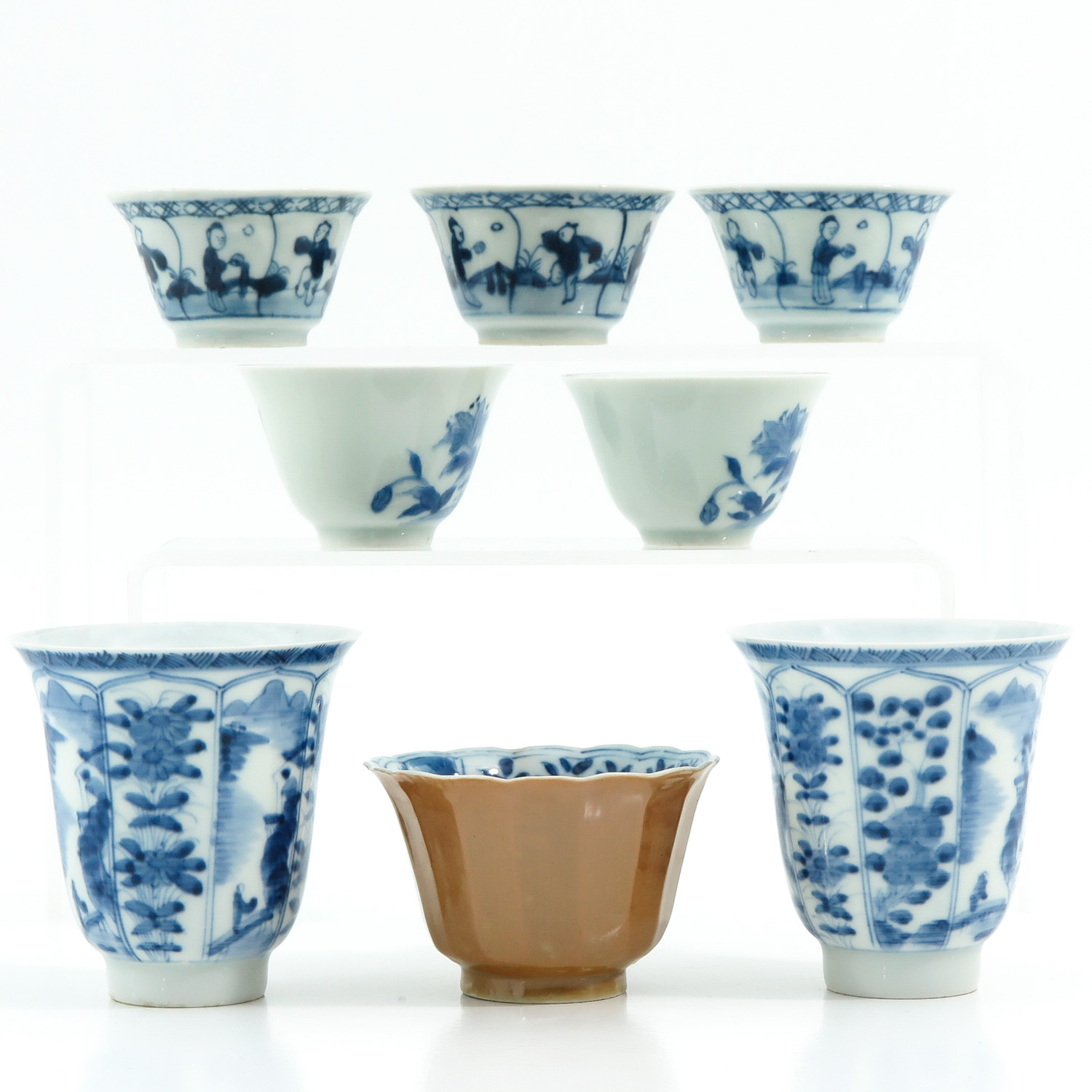 A Diverse Collection of Cups and Saucers - Image 4 of 10
