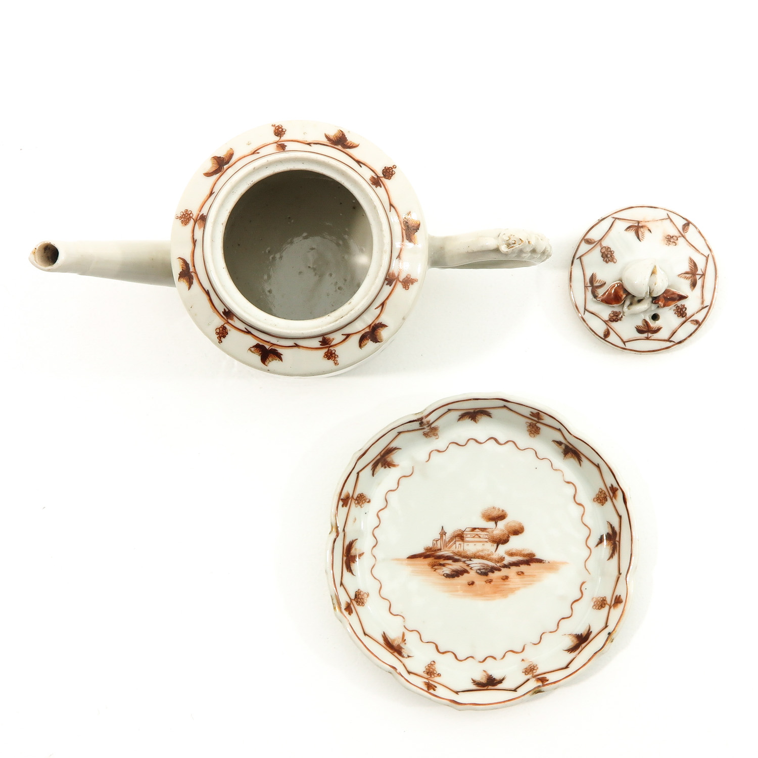 A Teapot and Small Dish - Image 5 of 9