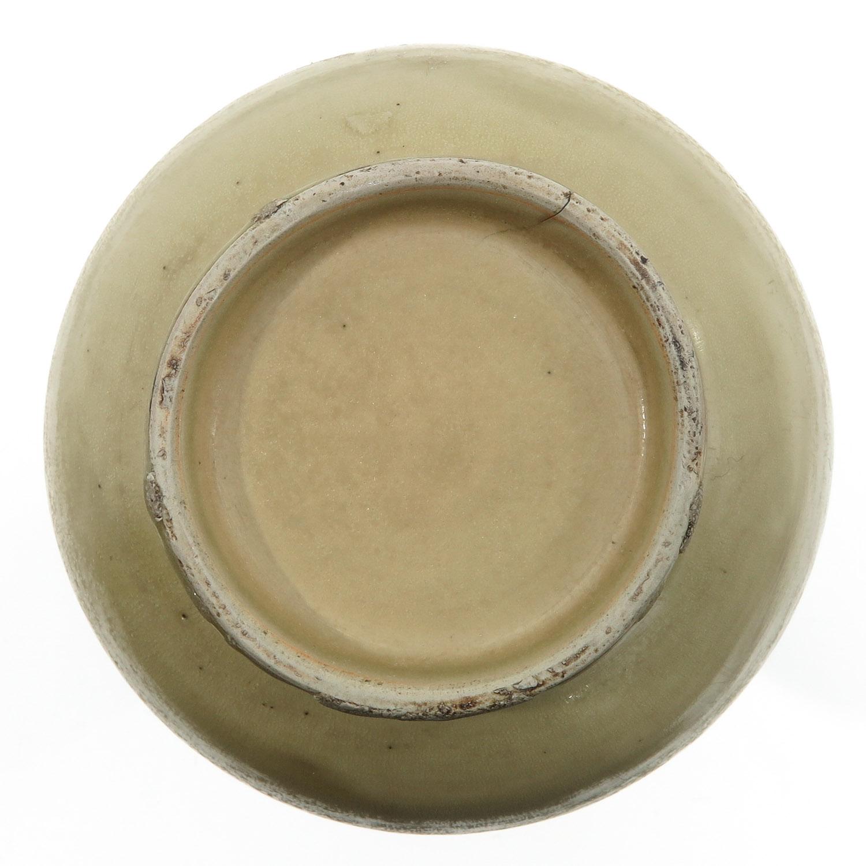 A Cream Glazed Vase - Image 6 of 9