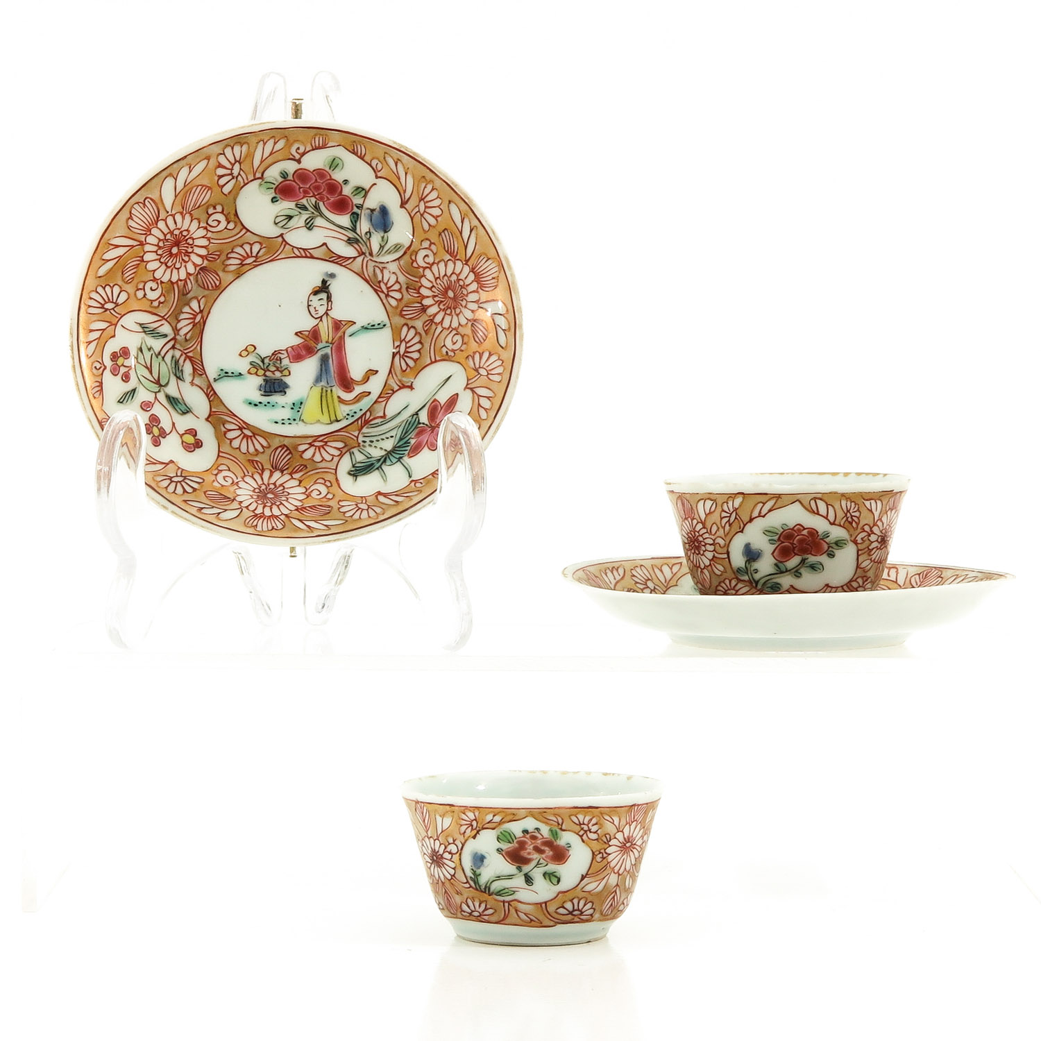 A Set of 2 Cups and Saucers