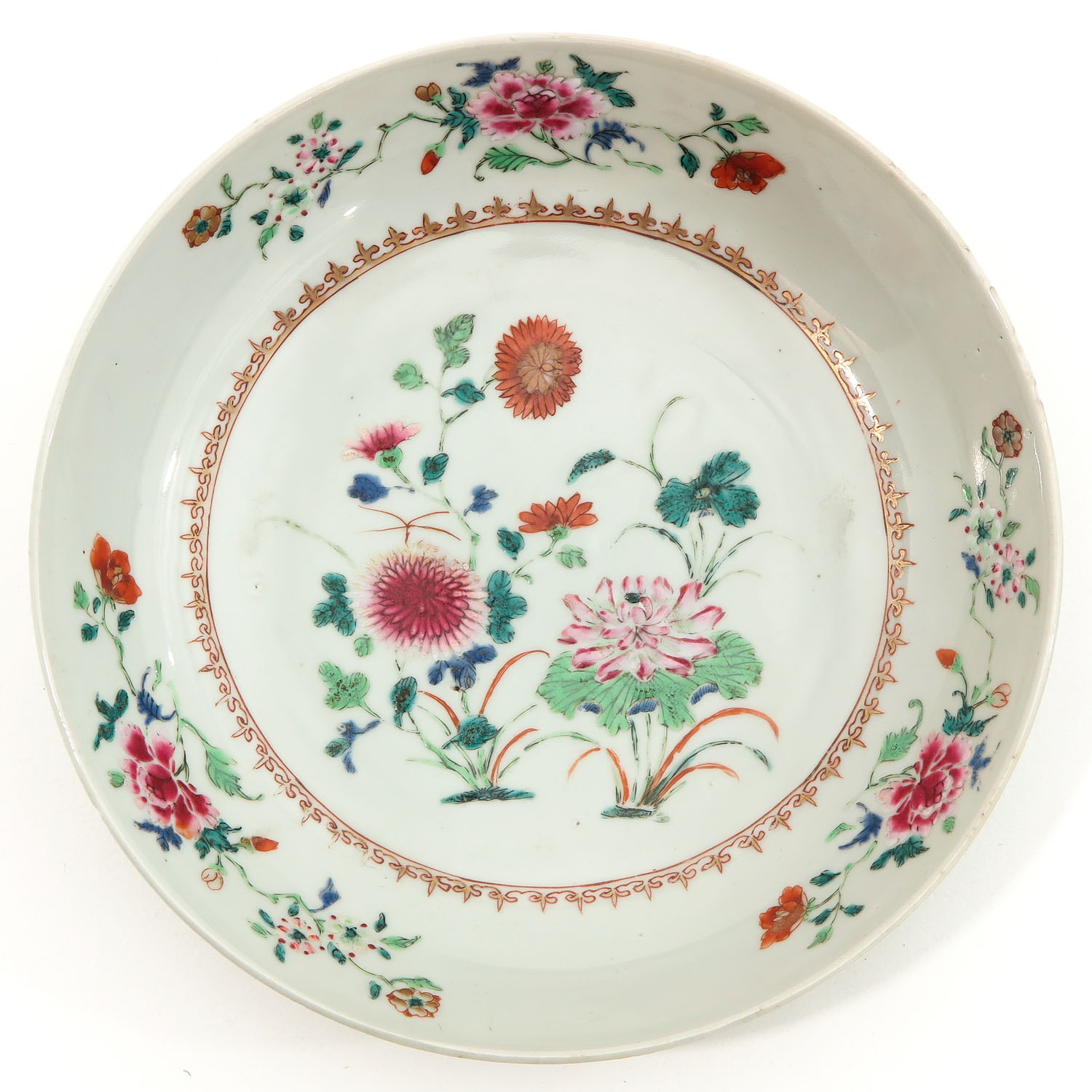 A Collection of 3 Famille Rose Plates - Image 3 of 10