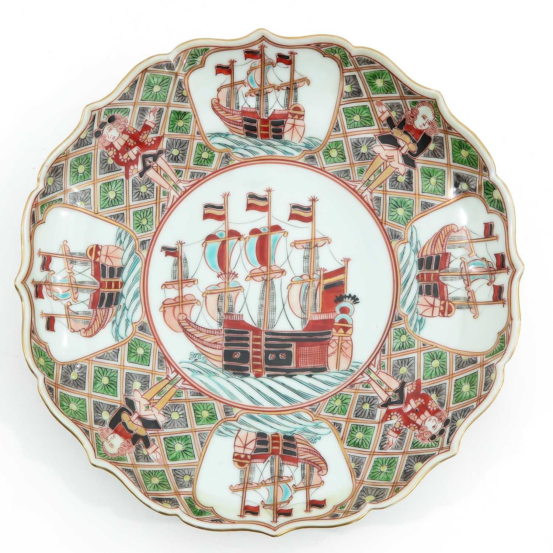 A Pair of Polychrome Decor Plates - Image 3 of 10