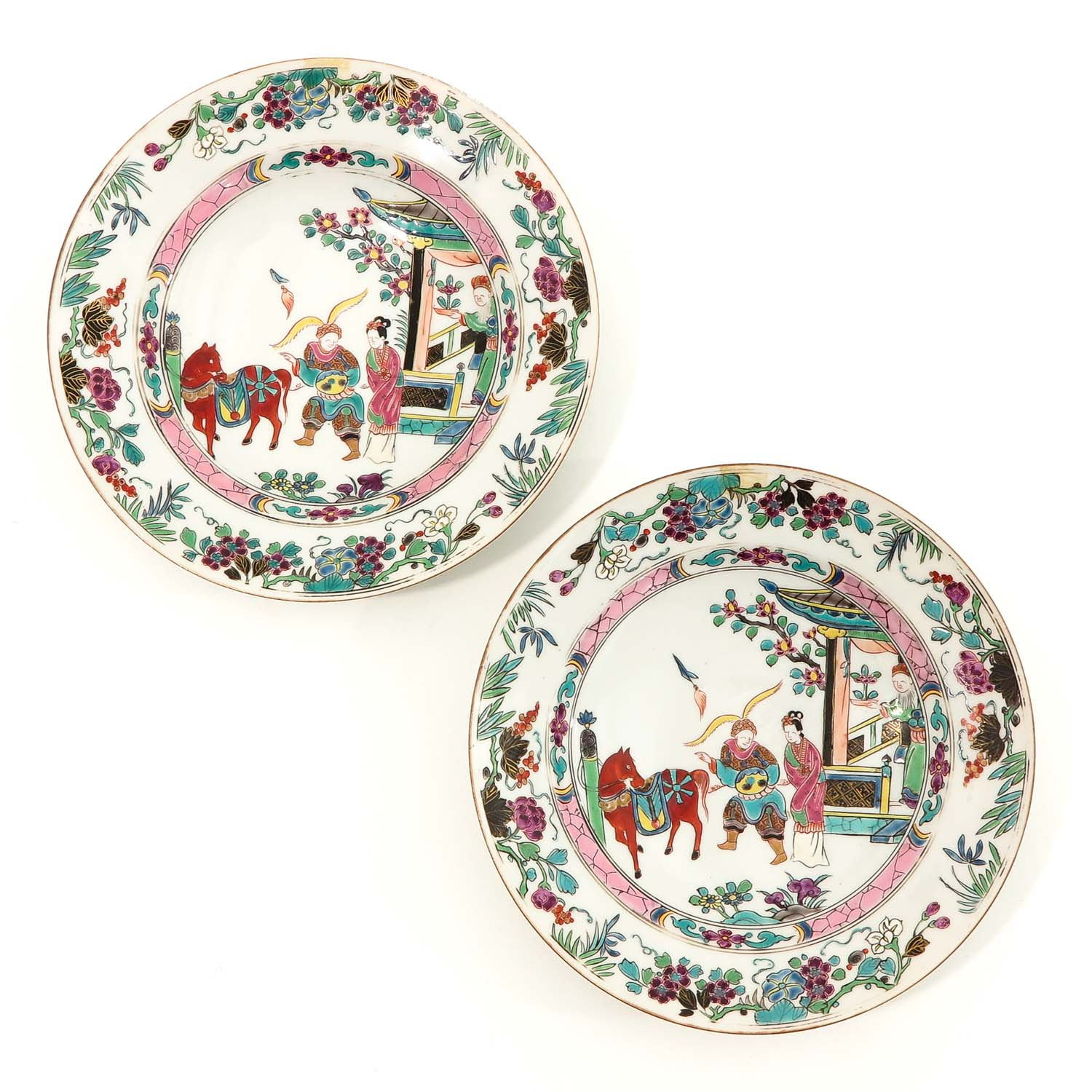 A Series of 4 Famille Rose Plates - Image 3 of 10