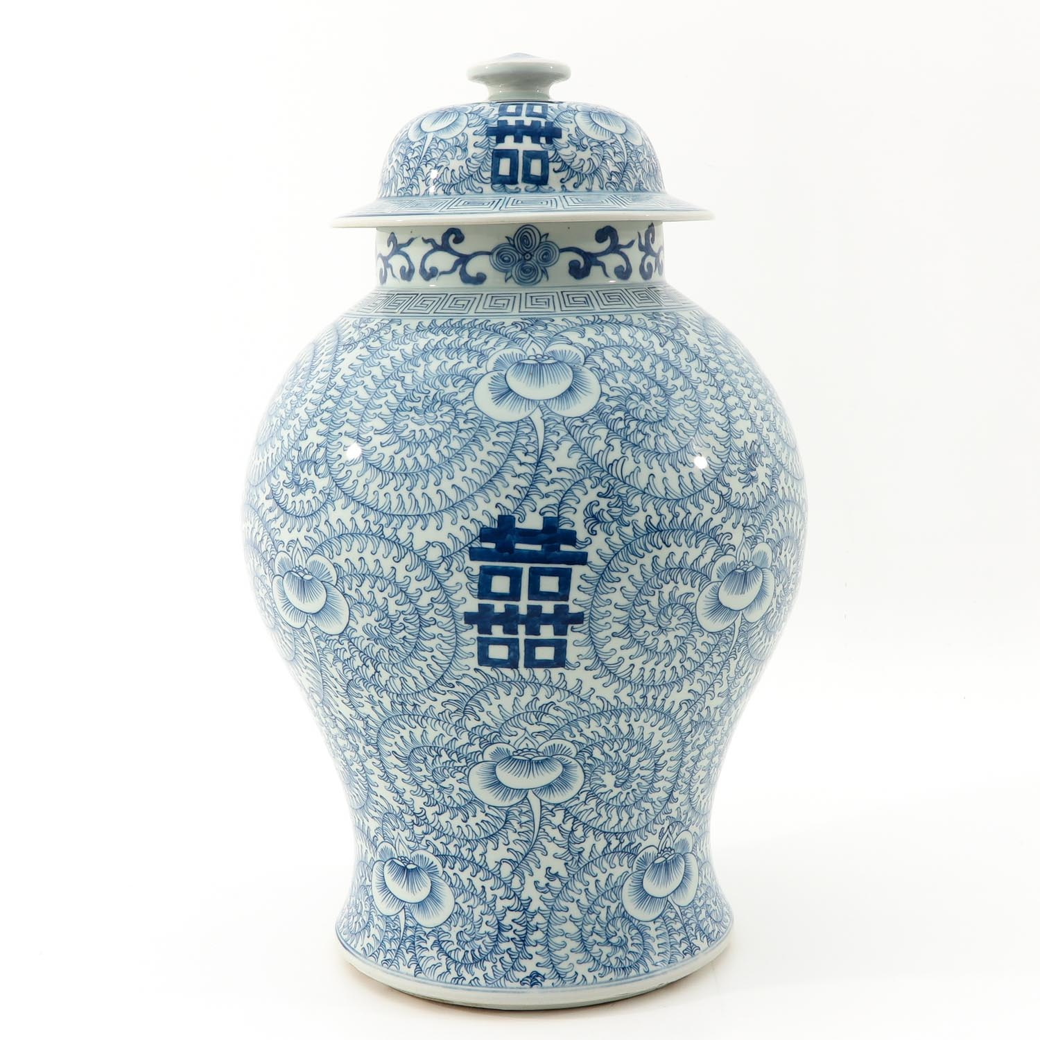A Blue and White Vase with Cover - Image 2 of 9