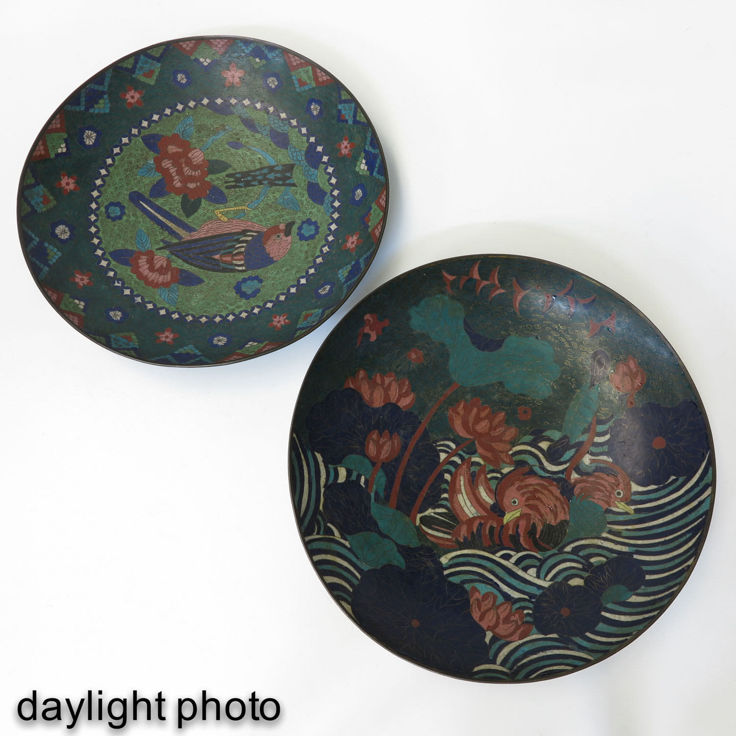 A Pair of Cloisonne Chargers - Image 7 of 10