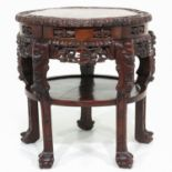 A Chinese Marble Top Side Table