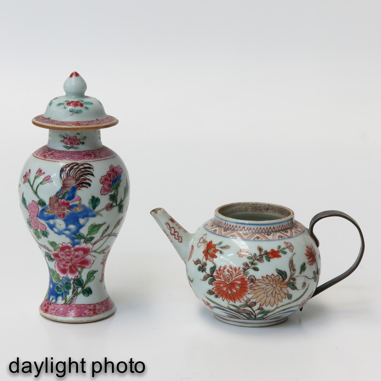 A Famille Rose Vase and Teapot - Image 7 of 9
