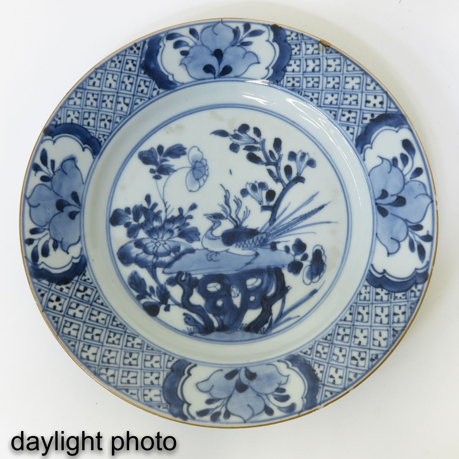 A Blue and White Plate - Image 3 of 5