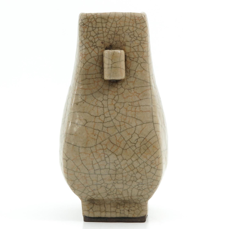 A Crackle Decor Hu Vase - Image 4 of 9