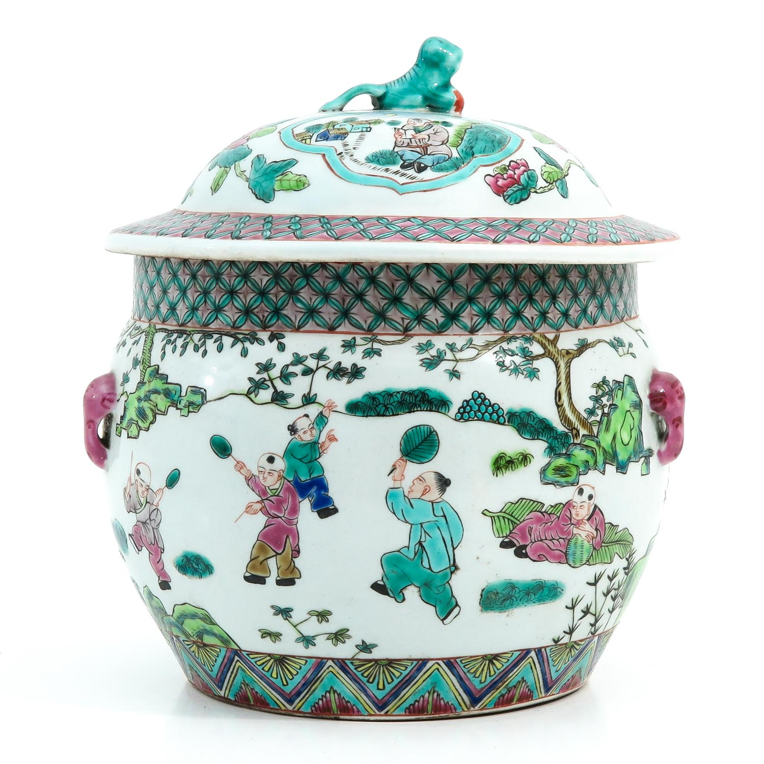 A Famille Rose Pot with Cover - Image 3 of 10