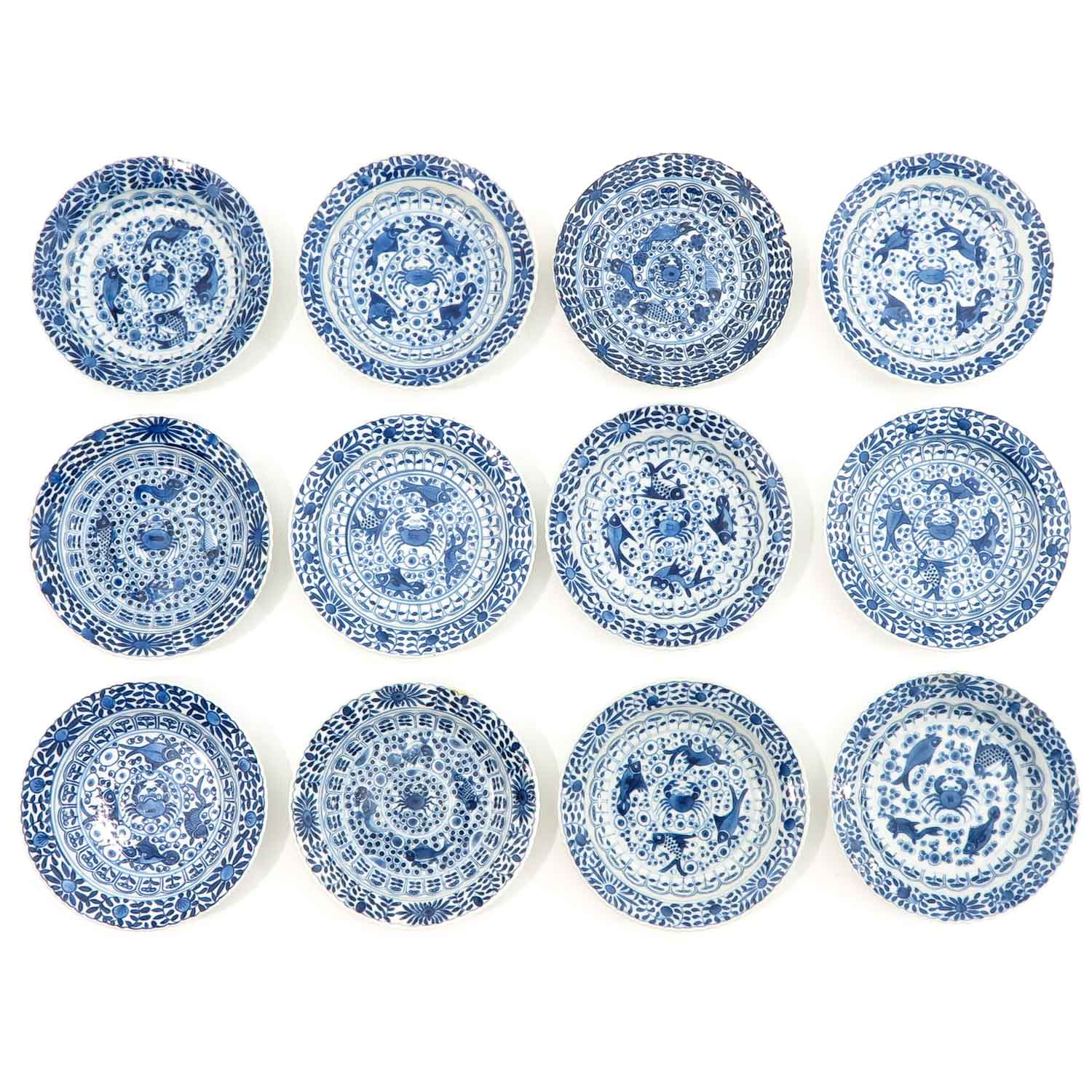 A Series of 12 Cups and Saucers - Image 7 of 10