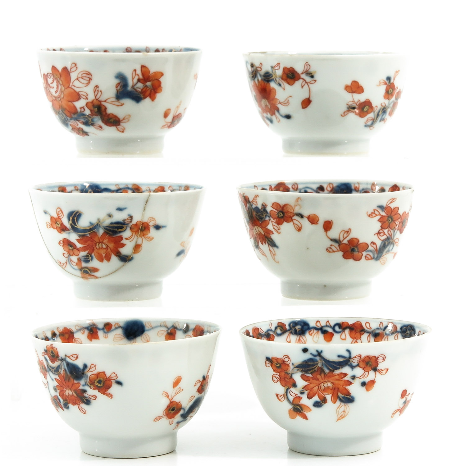 A Collection of Imari Cups and Saucers - Image 3 of 10
