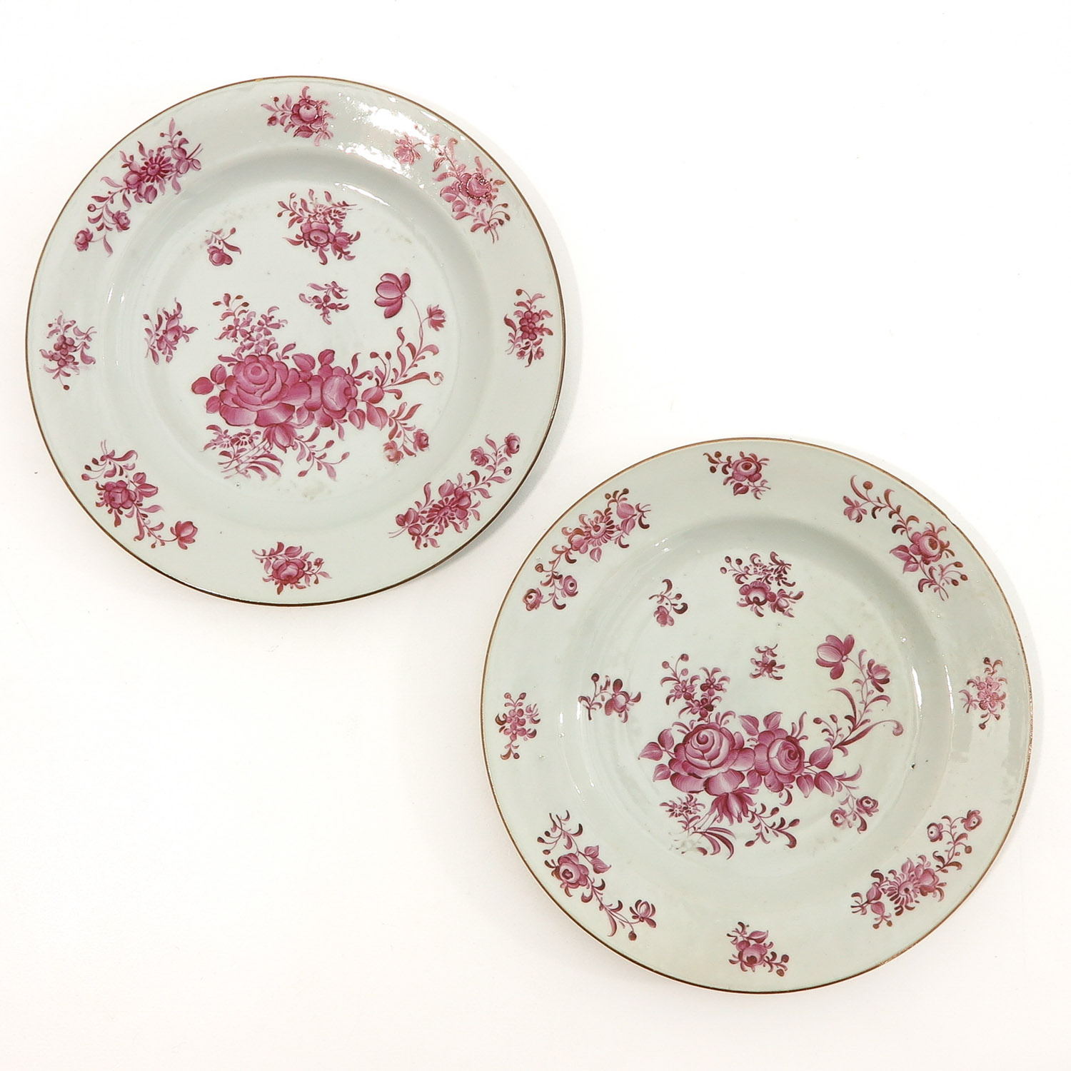 A Collection of 5 Famille Rose Plates - Image 3 of 10