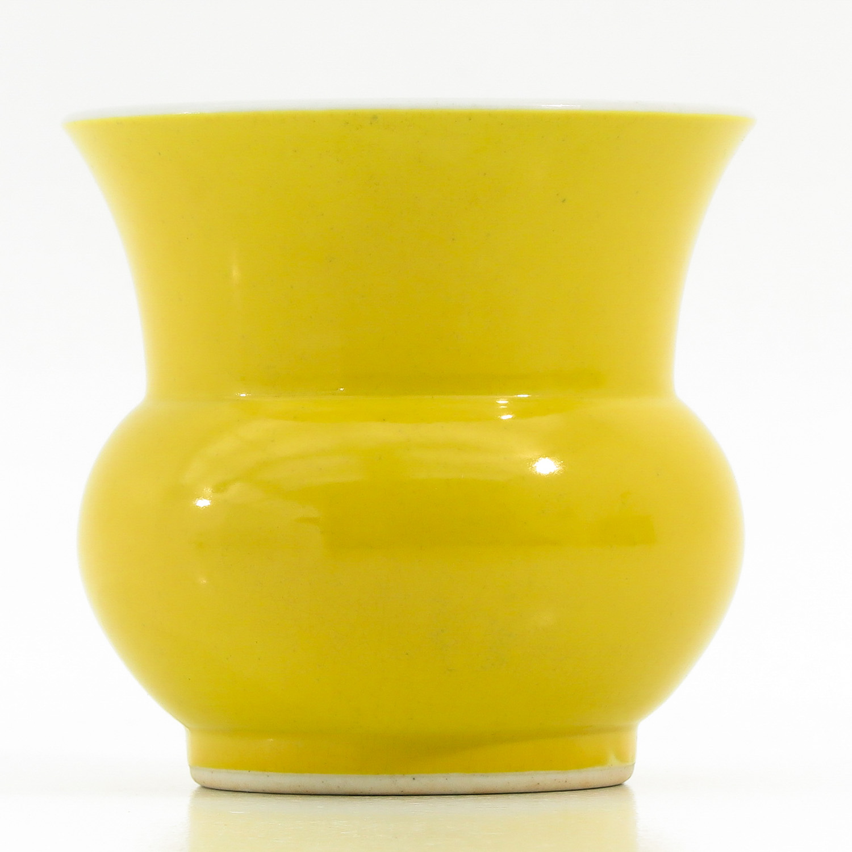 A Yellow Glazed Vase - Image 3 of 9