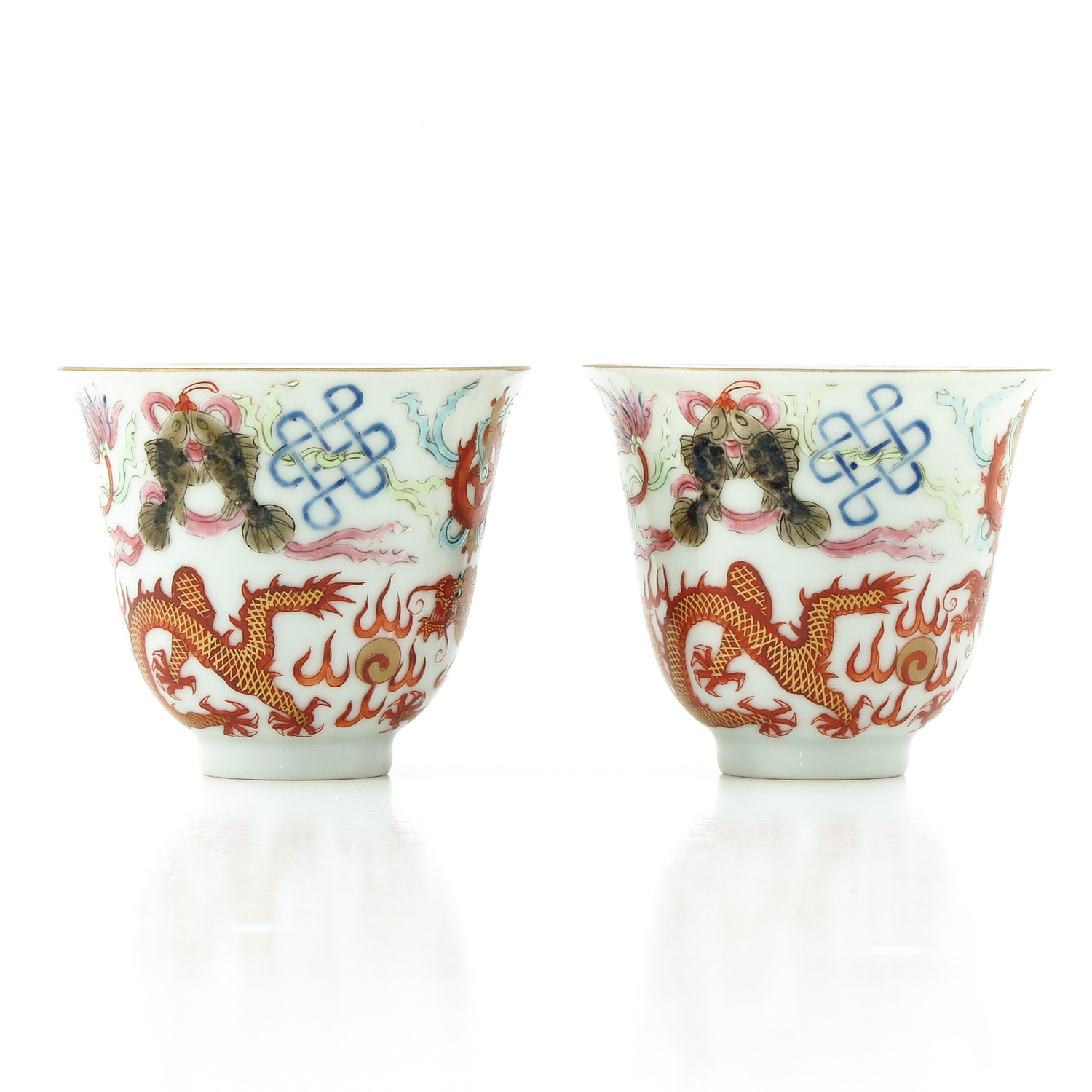 A Pair of Famille Rose Cups - Image 2 of 10