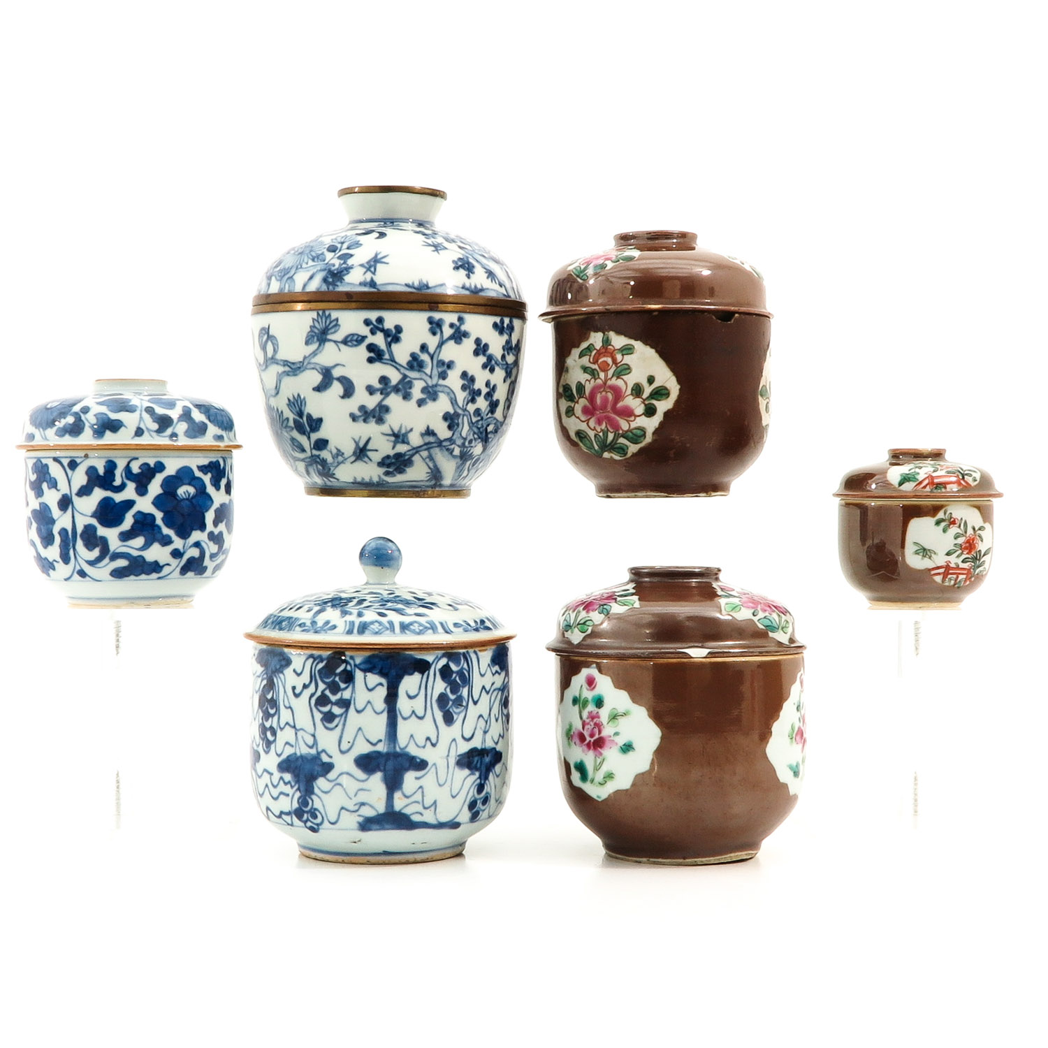 A Collection of Jars with Covers - Image 3 of 10
