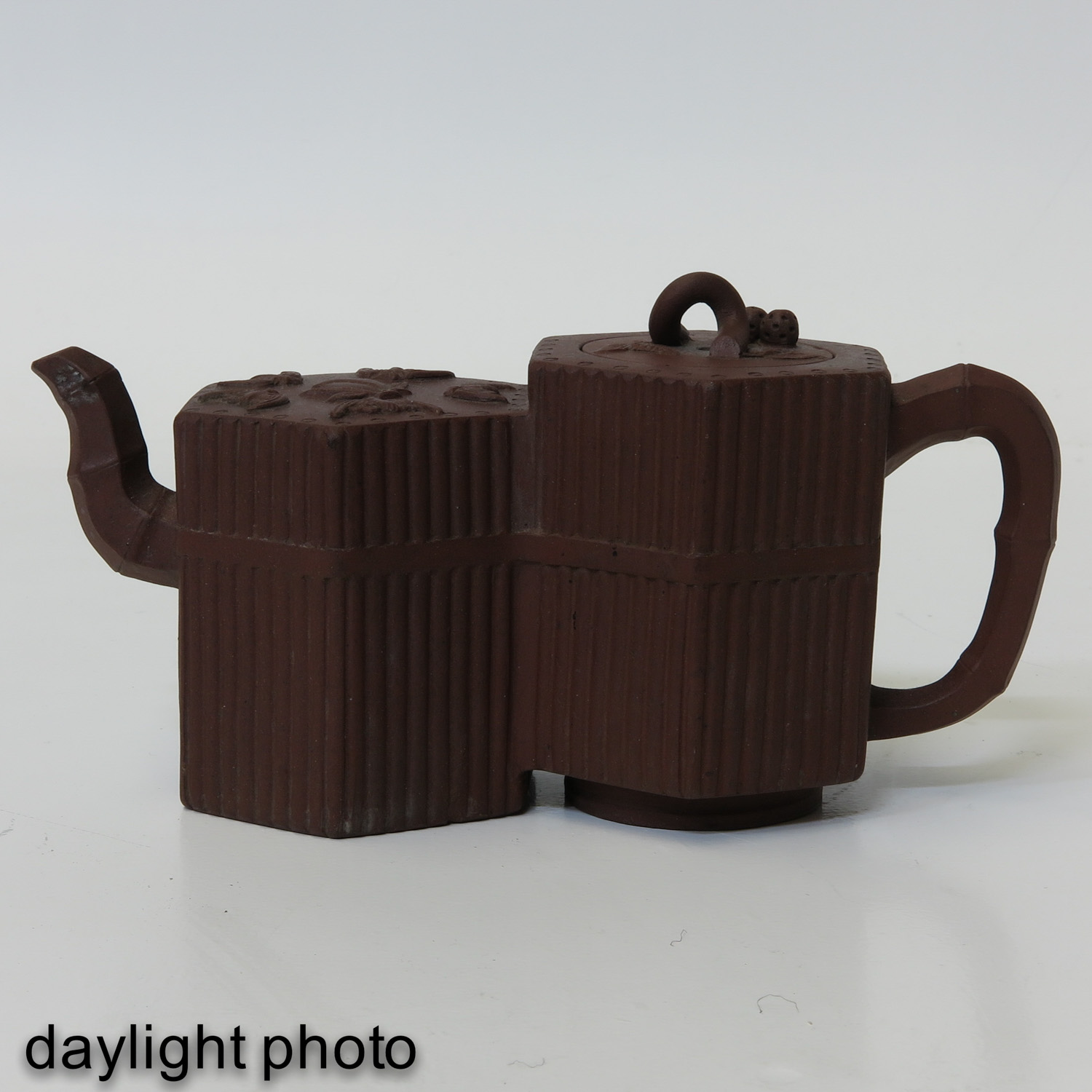 A Double Yixing Teapot - Image 7 of 9