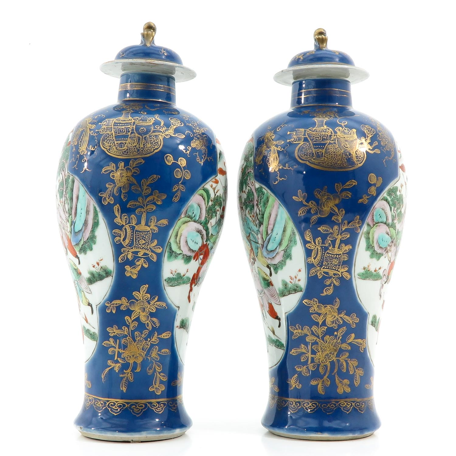 A Pair of Powder Blue Vases - Image 2 of 10