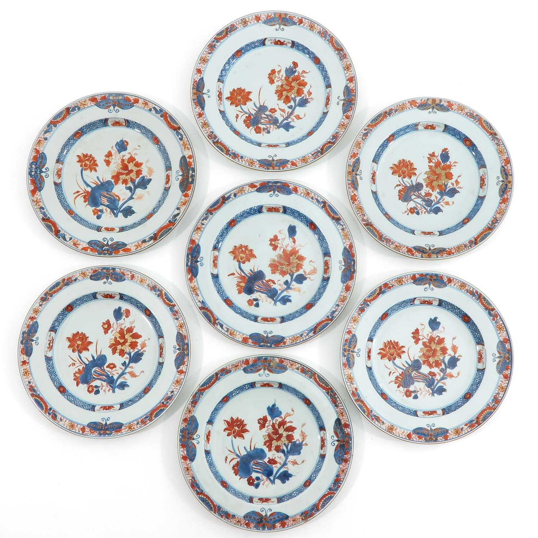 A Series of 7 Imari Plates