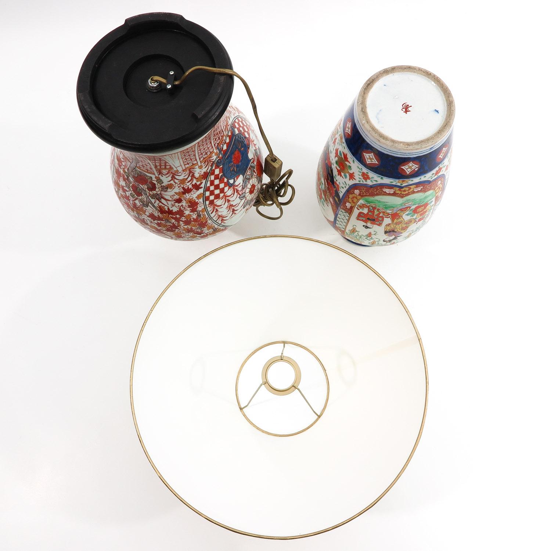 An Imari Vase and Lamp - Image 6 of 9