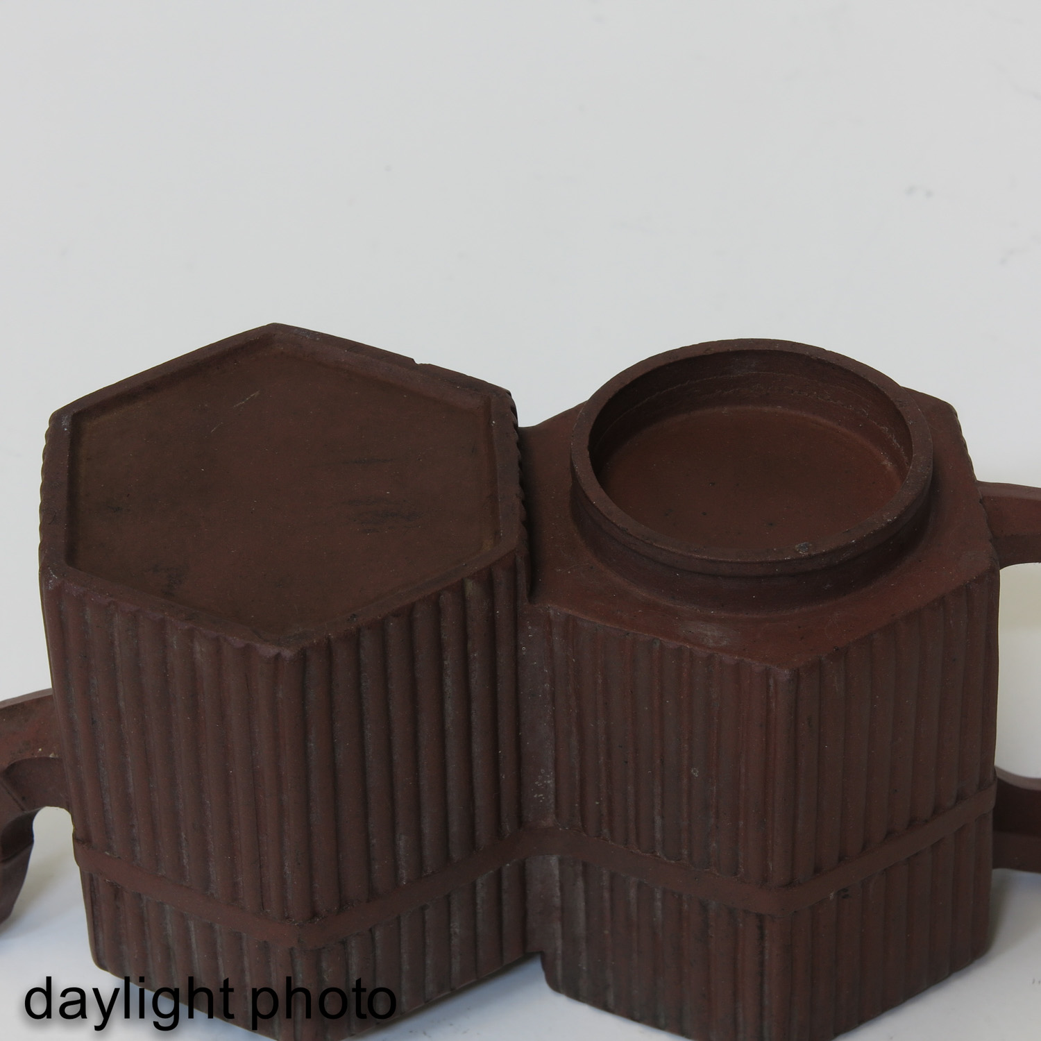 A Double Yixing Teapot - Image 8 of 9