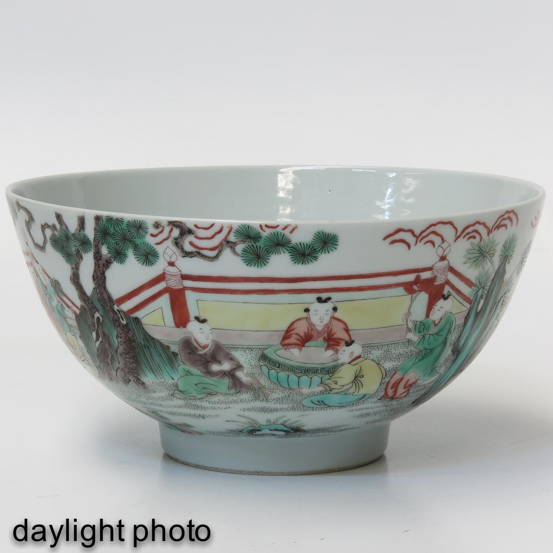 A Famille Verte Bowl - Image 7 of 9