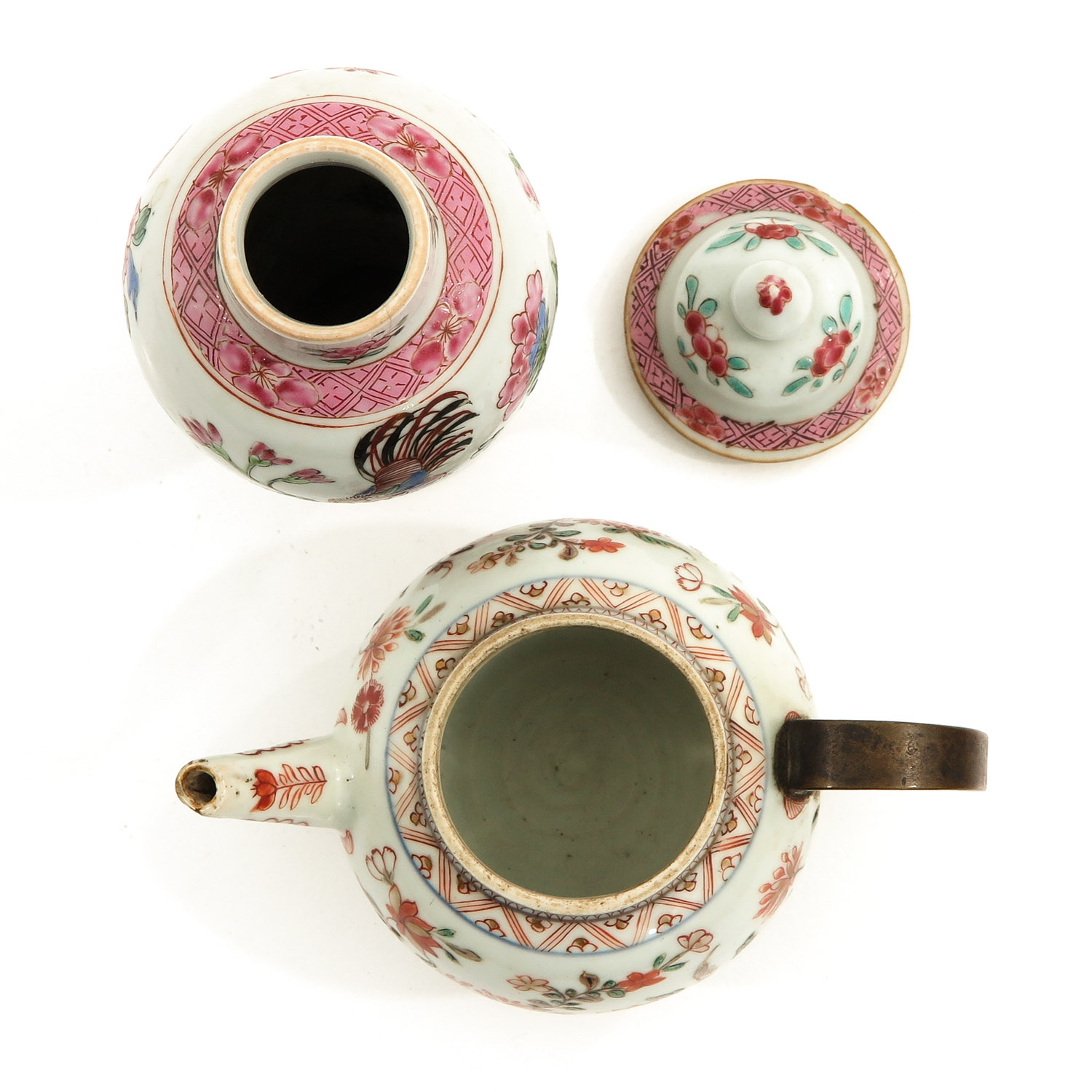 A Famille Rose Vase and Teapot - Image 5 of 9