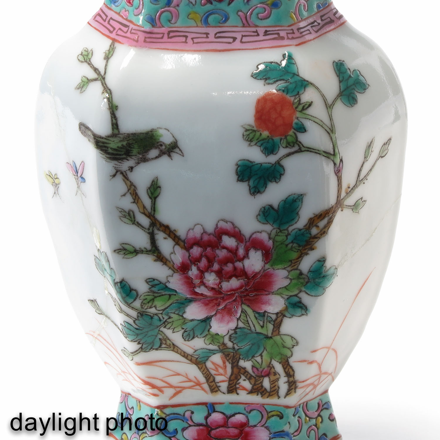 A Pair of Famille Rose Vases - Image 9 of 9