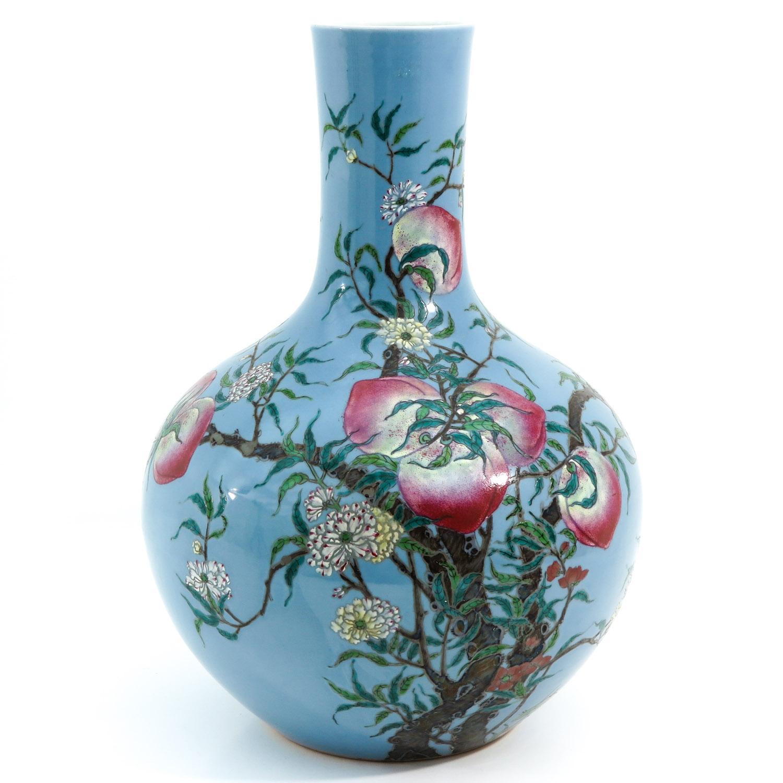 A Peach Decor Bottle Vase