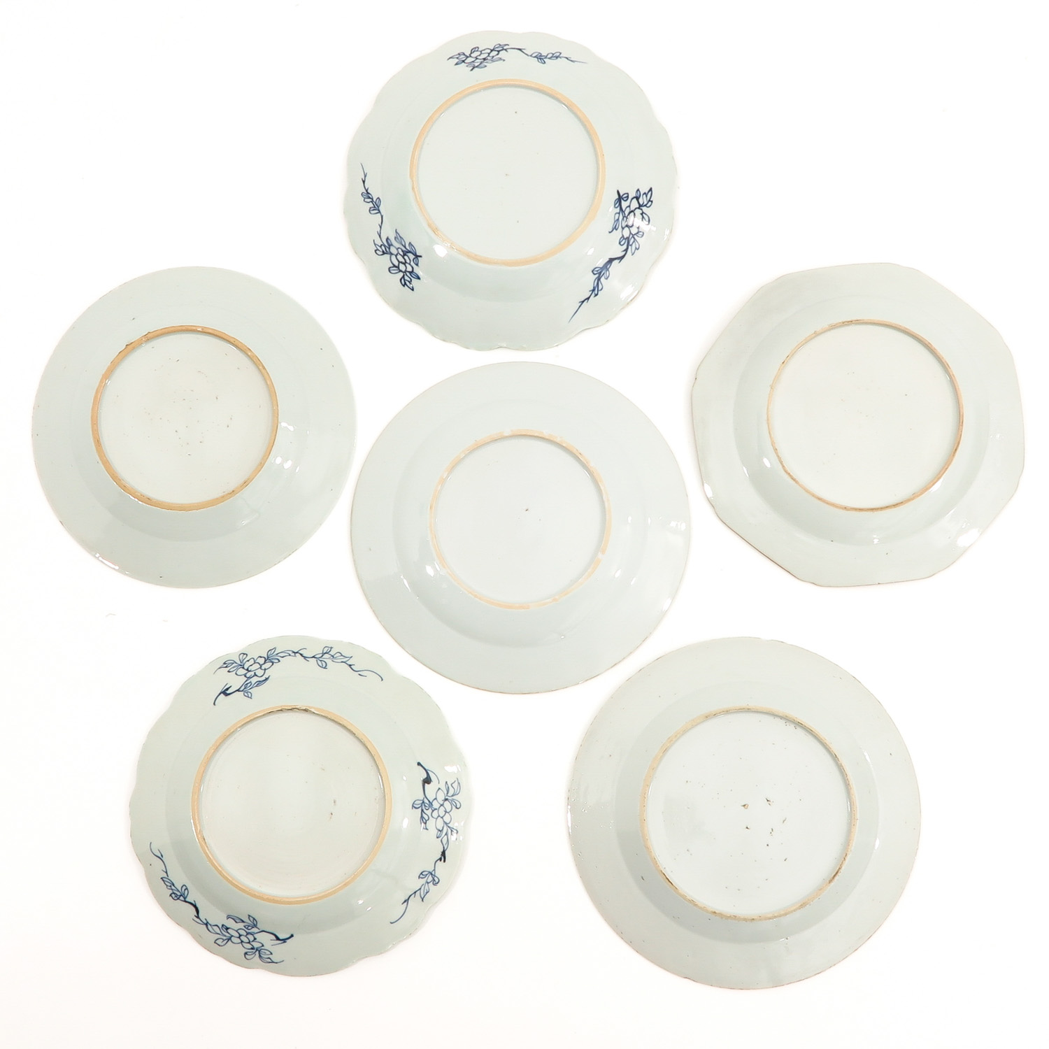 A Set of 6 Blue and White Plates - Image 2 of 10