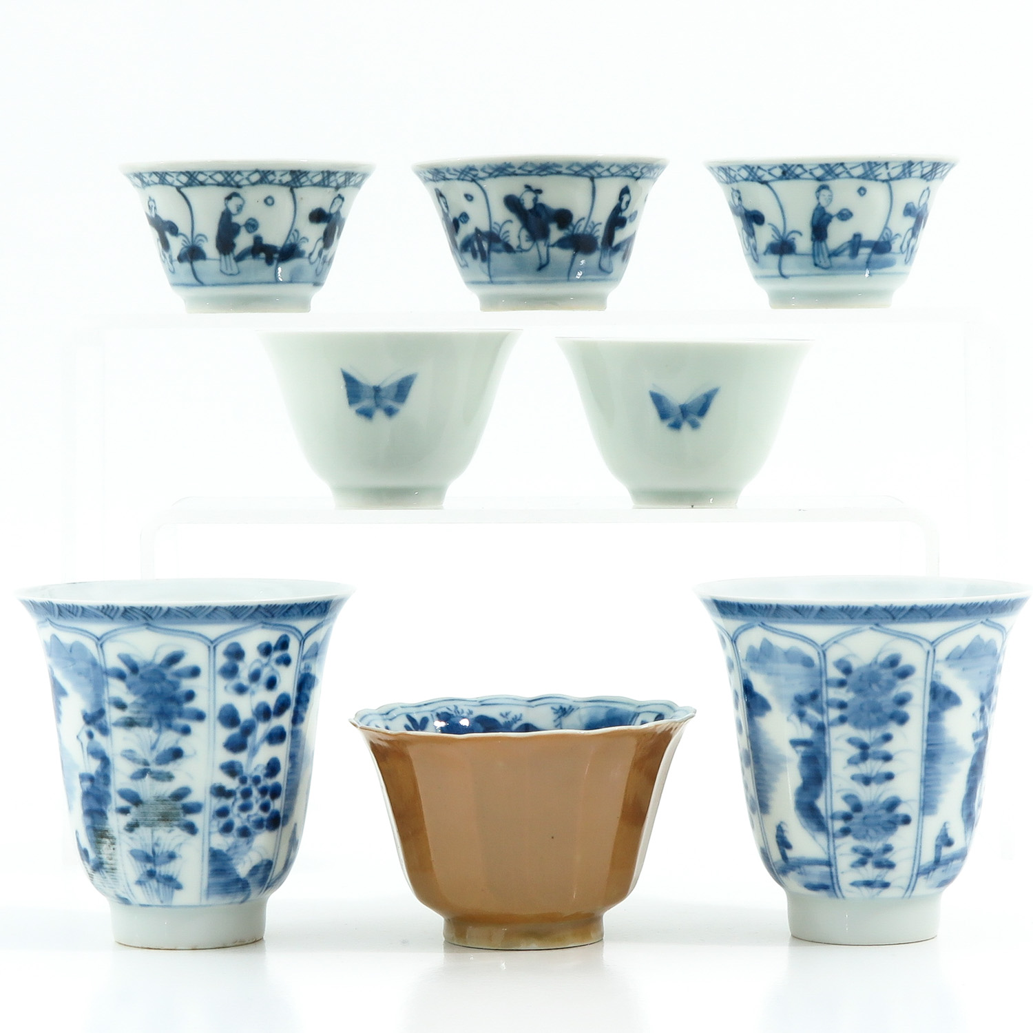 A Diverse Collection of Cups and Saucers - Image 3 of 10