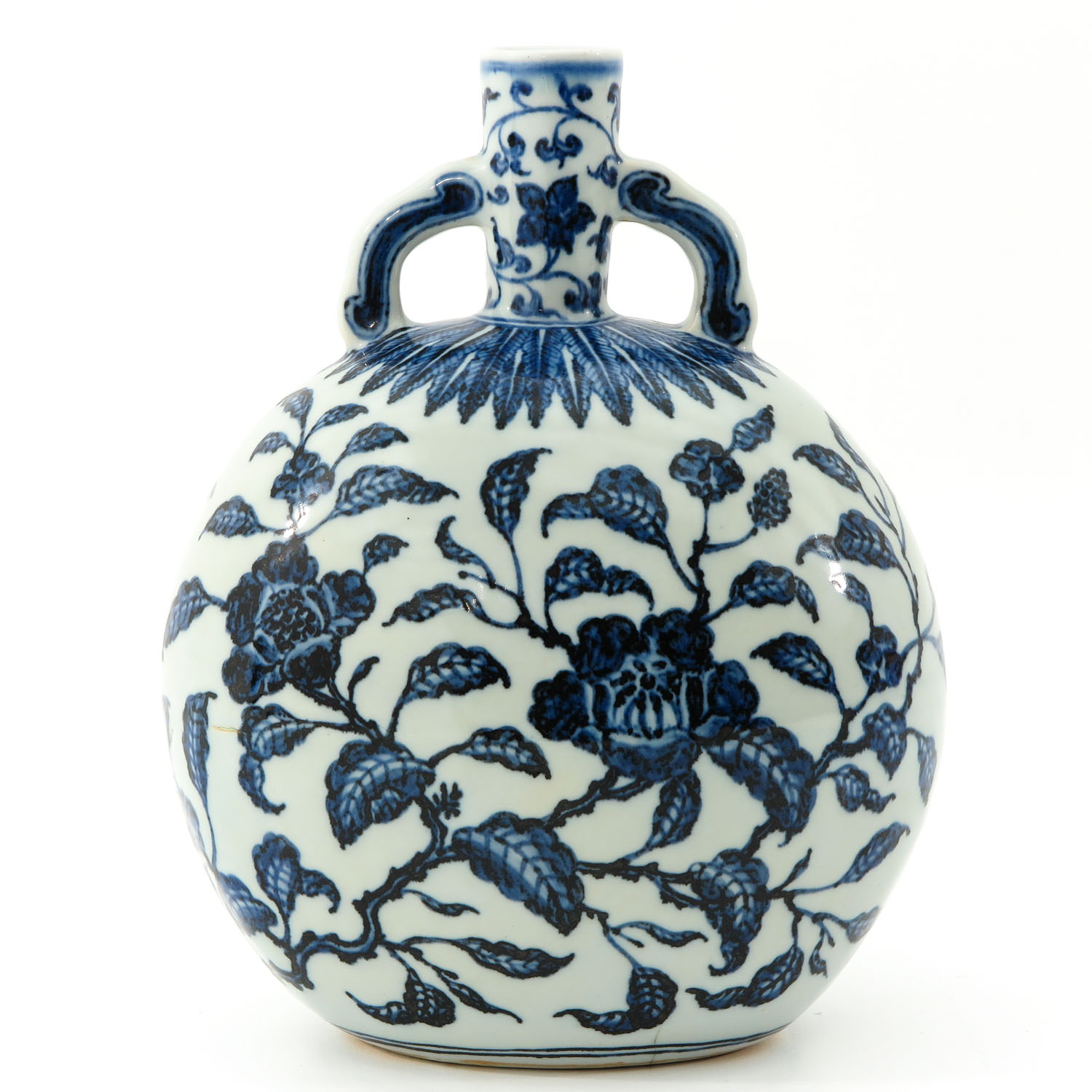 A Blue and White Moon Bottle - Image 3 of 9
