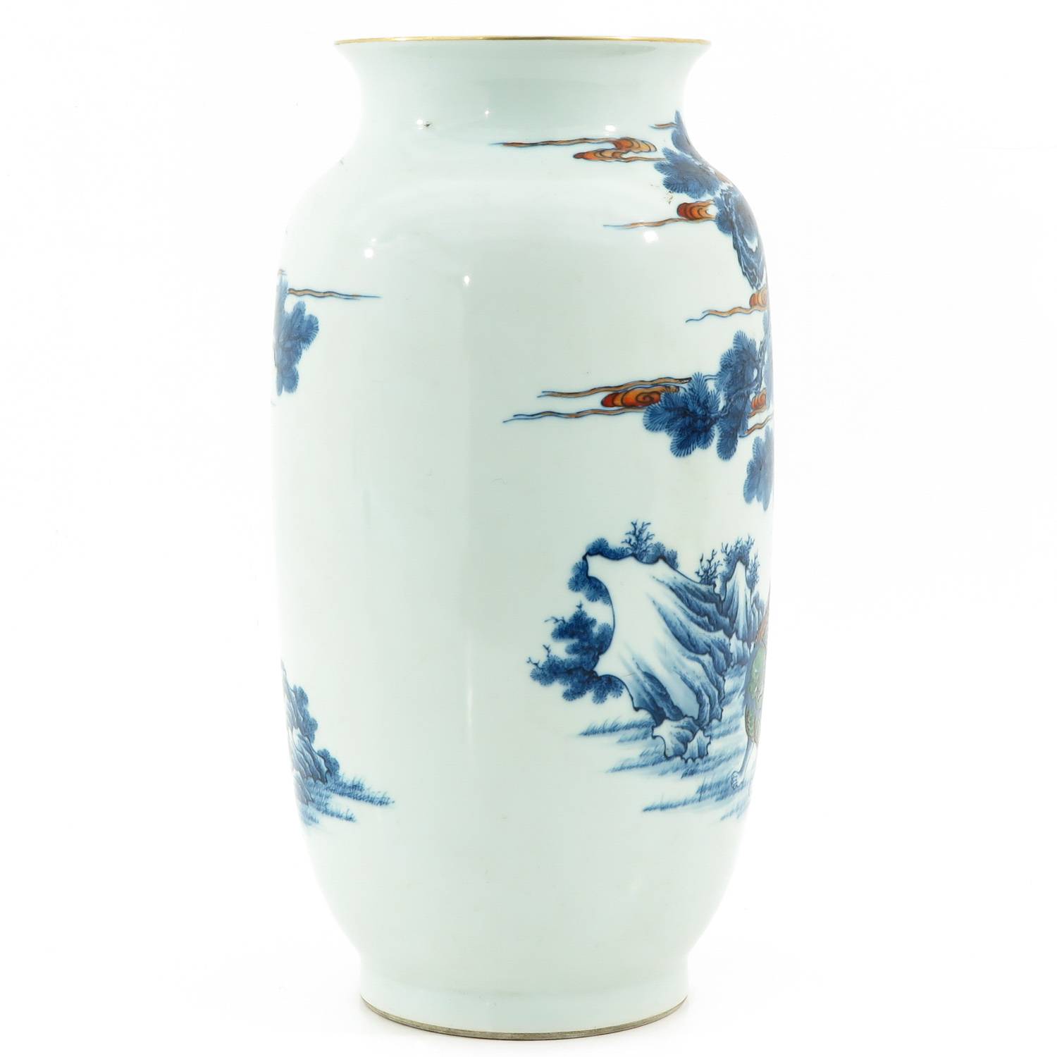 An Iron Red and Blue Decor Vase - Image 4 of 10