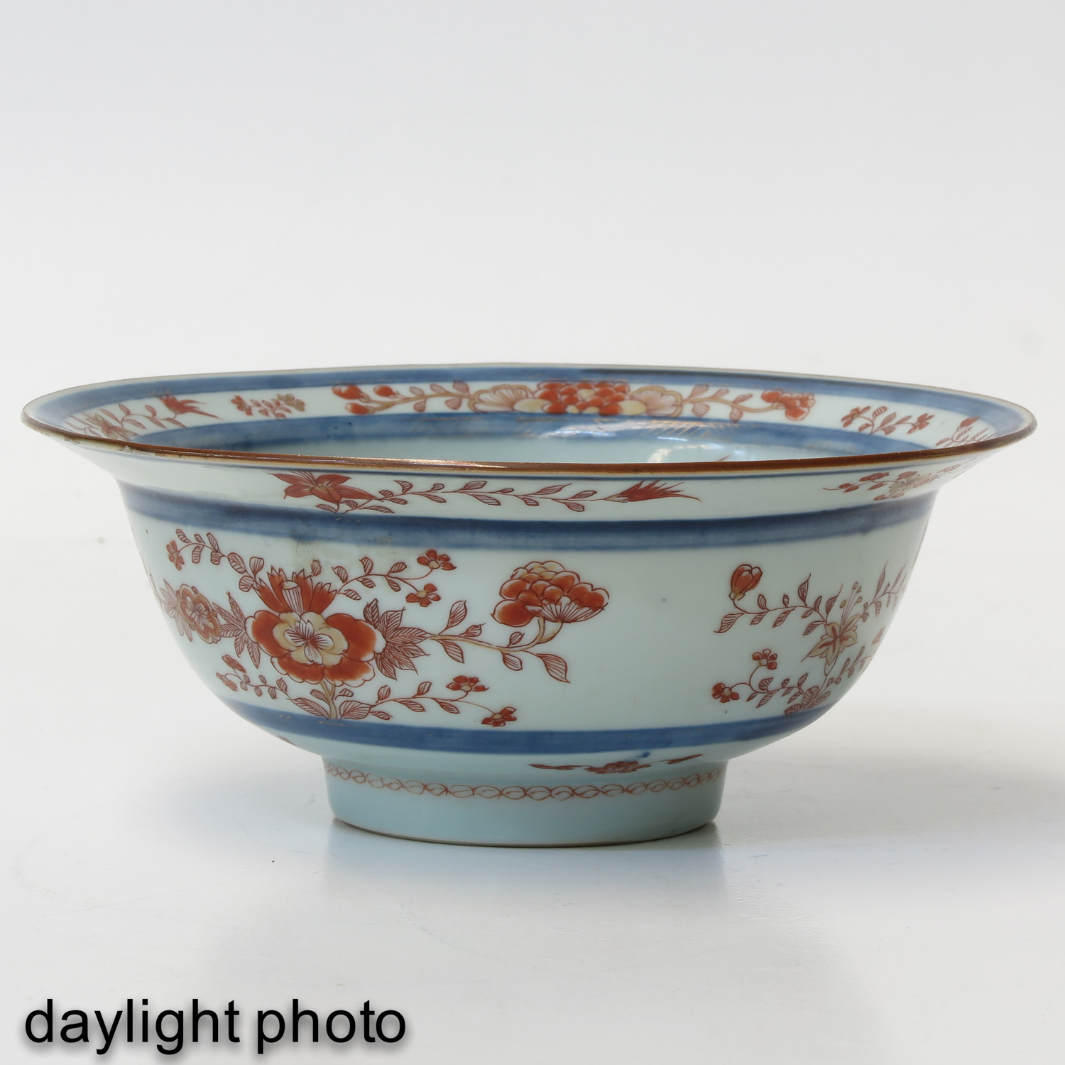 A Blue and Iron Red Bowl - Image 7 of 9